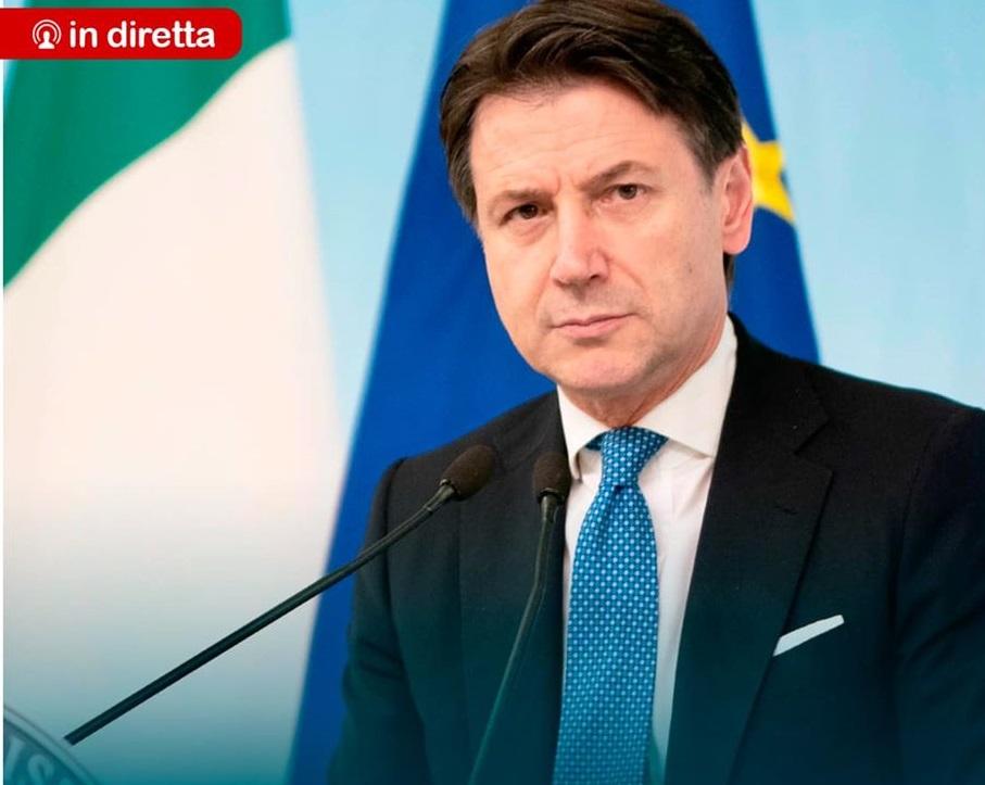 Covid-19, nuove restrizioni per l'Italia.  Dichiarazioni Presidente del Consiglio Giuseppe Conte