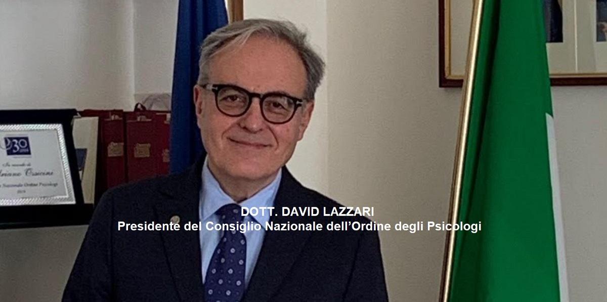 David Lazzari - Pres. Ordine Nazionale Psicologi